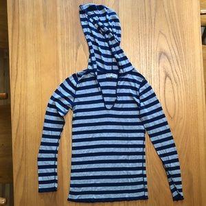Michael Stars striped hoodie